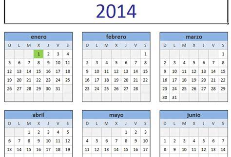 calendario 2014 para imprimir en espa 241 ol lo nuevo de hoy