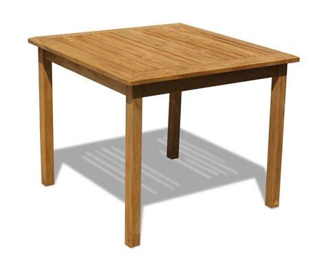 outdoor teak table sandringham square teak outdoor 3ft table