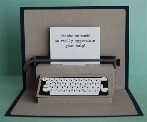 cool pop up card templates typewriter pop up card