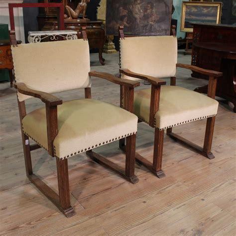 poltrone rustiche coppia poltrone rustiche scolpite in legno di rovere stile
