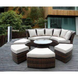 outdoor round sectional home furniture decoration outdoor lounge furniture wicker