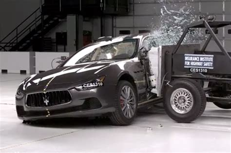 Insurance For Maserati by Maserati Ghibli Gets Smashed On Its Way To Top Safety