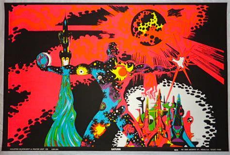 1970s black light posters vintage 1970 houston blacklight poster co saturn