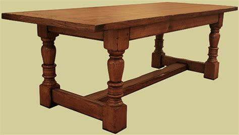 superb value oak refectory dining table