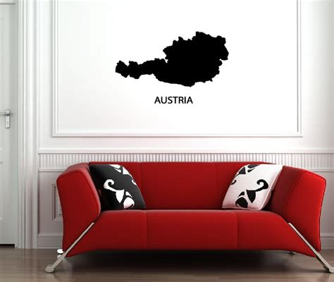 Aufkleber Online Bestellen österreich by Wandtattoos 214 Sterreich Wandsticker Austria Wandtattoo