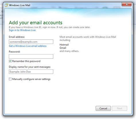 liv emaille how to install and configure windows live mail 2011