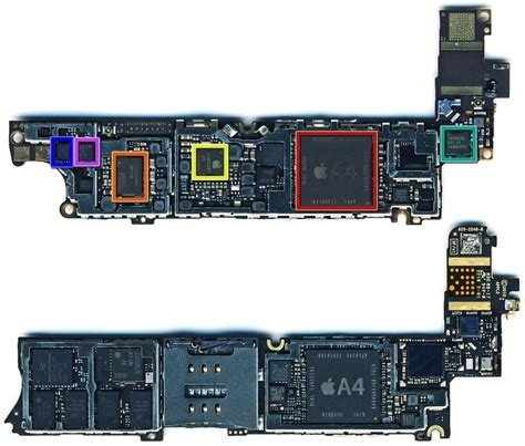 iphone board layout photos of iphone 4s 5 logic board suggest a5 processor
