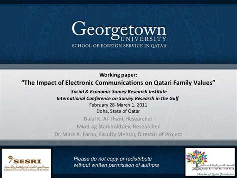 Saudi Electronic Mba by The Impact Of Electronic Communications On Qatari Family