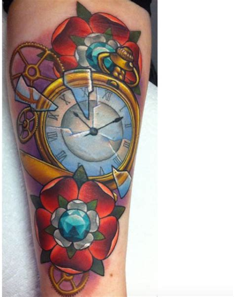 traditional pocket watch tattoo 34 superb pocket designs tattooblend