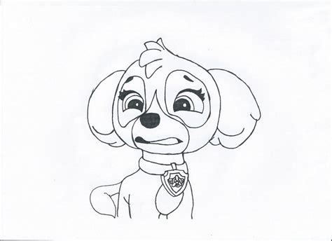 skye paw patrol coloring page az coloring pages