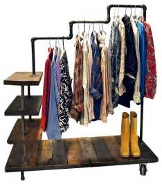 industrial pipe garment rack industrial clothes