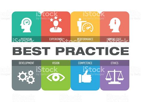 Best Practice best practice icon set stock vector more images of