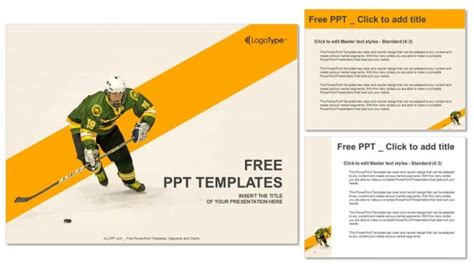 ice skates powerpoint templates ice hockey player powerpoint templates