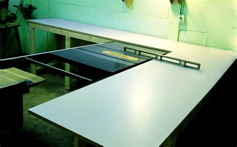 table saw outfeed table ideas table saw outfeed table plans