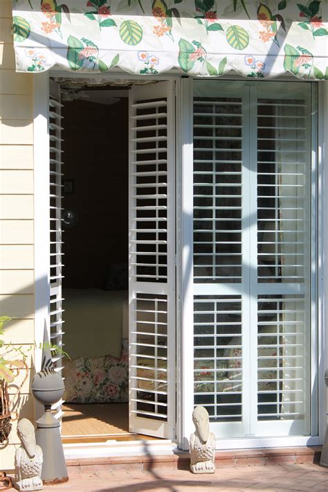 plantation shutters for patio doors betsy speert s plantation shutters on sliders a