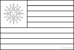 Uruguay Flag Outline by Colouring Book Of Flags Central And South America