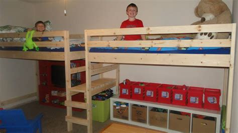 double loft beds ana white double twin c loft bed diy projects