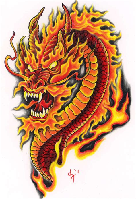 dragon tattoo in colour 60 awesome dragon tattoo designs for men