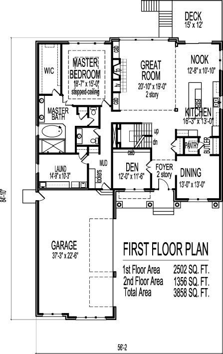 Two Story Bungalow House Plans by Craftsman Bungalow House Plans 3800 Sf 2 Story 4 Bedroom