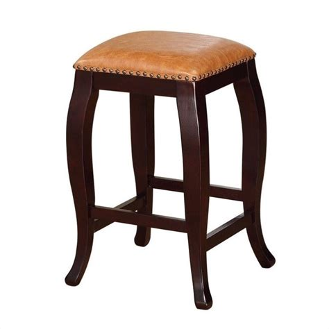 Best Counter Stools by 24 Quot Square Top Counter Stool In Caramel 178204car01