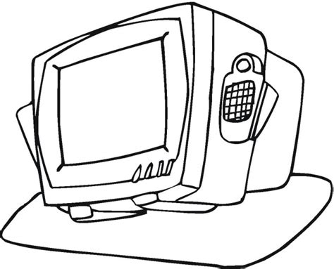 tv coloring page coloring pages ideas reviews