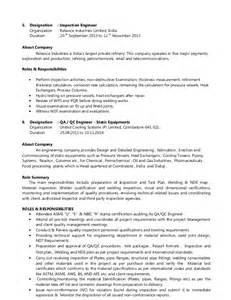 Welding Engineer Resume by Ealumalai Muthu Cv For Api 510 Inspector Or Plant