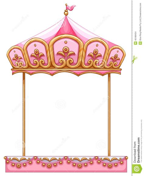 a carousel ride without a horse stock vector image 45188454