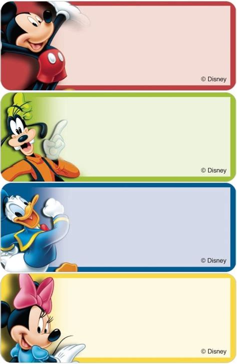 Label Nama Disney Mickey L name tags templates buscar con name tags victor hugo mice and school