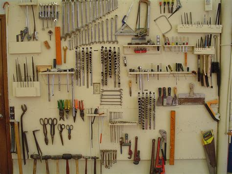 organization tools tool walls well organized and clean shop is important