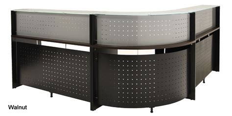 L Shape Reception Desk L Shaped Glass Top Reception Desk