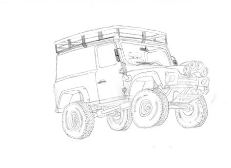 only drawing doodle defender land rover defender 90 by clynxc on deviantart