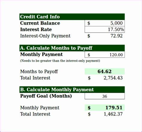 Credit Card Interest Calculator Excel Template by 10 Loan Calculator Excel Template Exceltemplates