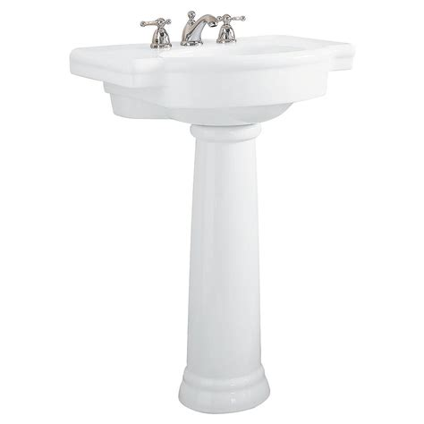 white bathroom sinks american standard cornice vitreous china pedestal combo bathroom sink in white 0611
