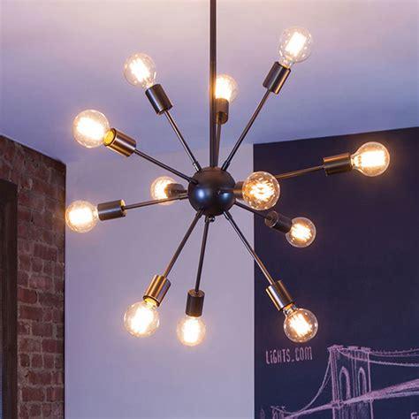Sputnik Pendant Light Lights Home Garden Ceiling Lights 12 Light Sputnik Pendant In Gunmetal Medium