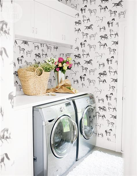 laundry room wallpaper wallpapered laundry rooms centsational style