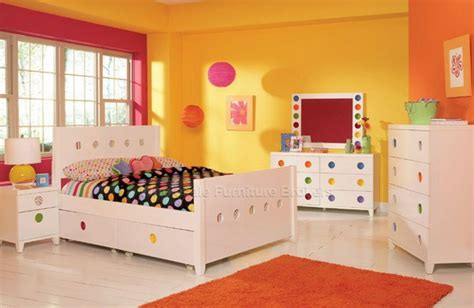 colorful bedroom furniture cute yellow wall paint color of girls bedroom decorating