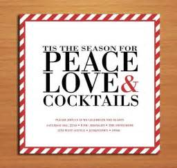 peace and cocktails customized printable invit