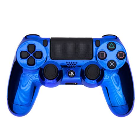 Hoodie Jumper Broadcast Yourself playstation dualshock 4 custom controller chrome blue