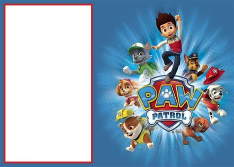 paw patrol birthday card template free paw patrol invitations sure success free invitation