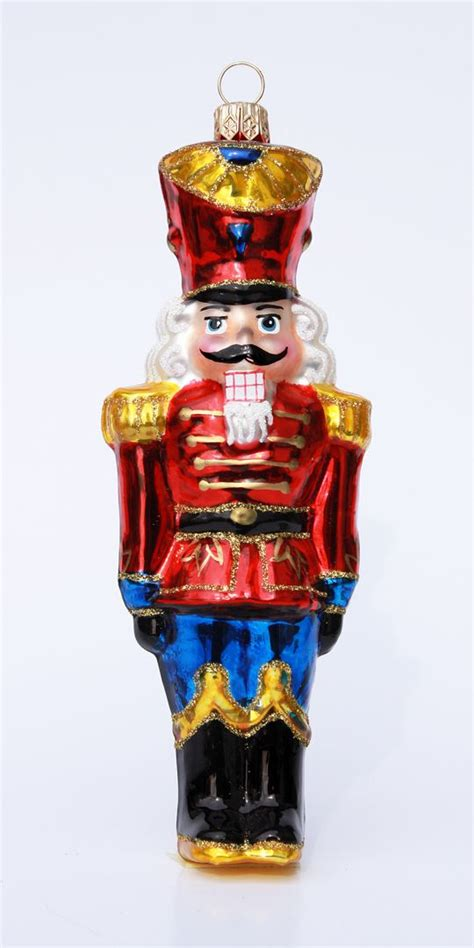 nutcracker glass christmas ornament