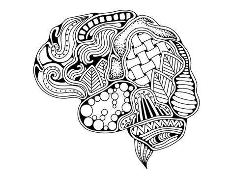 doodle or sign up genius human brain doodle decorative creative mind stock