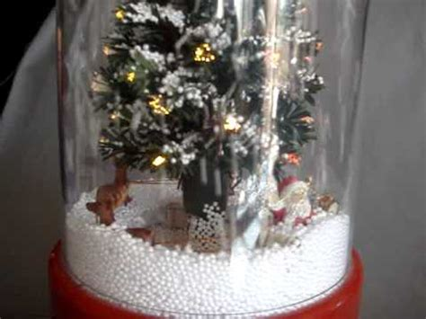 15 inch snow blowing fiber optic christmas tree with santa