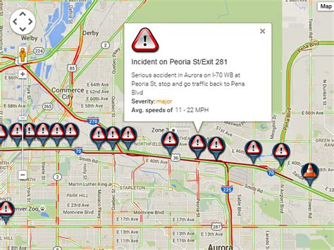 denver traffic map i 70 truck crash at peoria jams traffic denver7 thedenverchannel