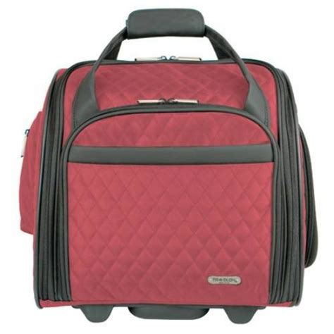 Quilted Carry On Suitcase From Outfitters by Travelon Luggage Wheeled Underseat Carry On With Back Up