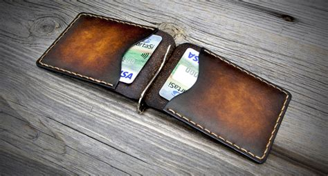 Handmade Money Clip - leather money clip wallet handmade money clip wallet leather