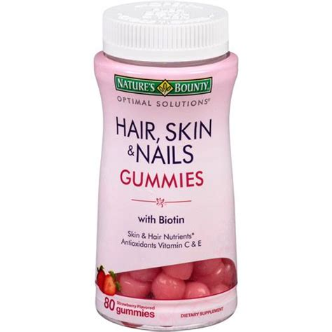 supplement for hair and nails nature s bounty strength hair skin and nail vitamins