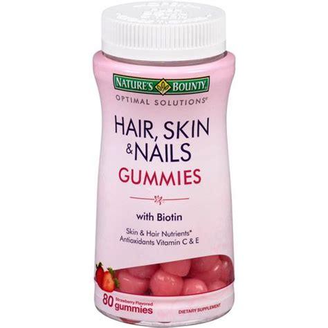 Natures Bounty Hair Skin Nails Gummies 120pc Vitamin Rambut Nature S Bounty Strength Hair Skin And Nail Vitamins