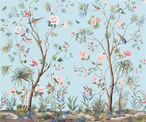 Zebra Wall Murals designing interiors with chinoiserie inspired wallpaper