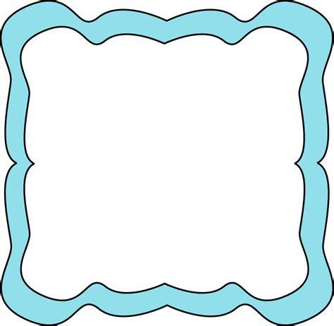 frame clipart light blue curvy frame free clip frames