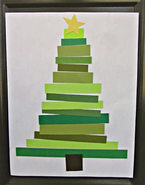 Crafts Using Paper Strips - craft paper tree c craft
